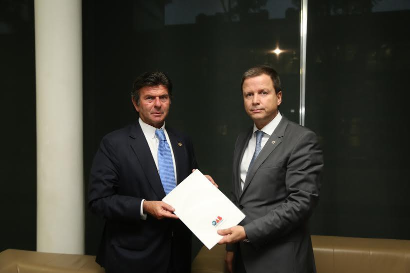Em encontro com ministro do STF, Lamachia defende sustentação oral de advogados prevista no Novo CPC