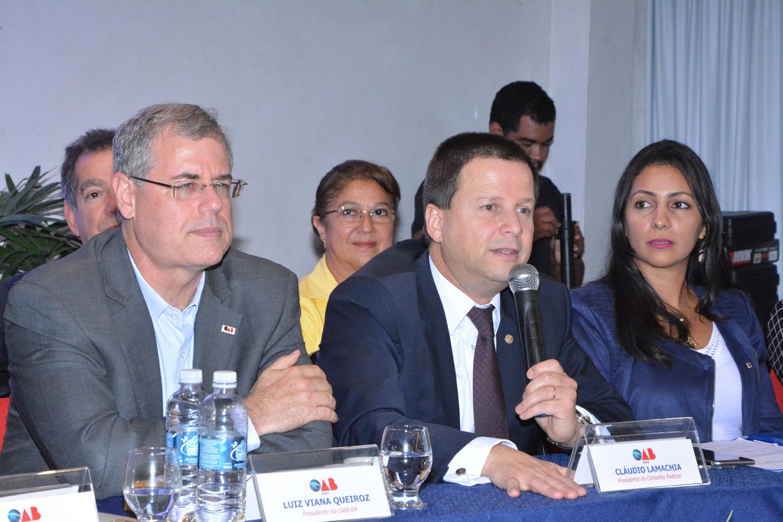 Na Bahia, Lamachia reafirma que sociedade espera um novo patamar ético para a política