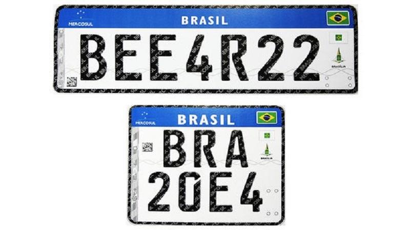 Mudança de placas de identificação de veículos em 2017